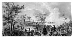 Beach Towel featuring the drawing Battle Of Gettysburg by War Is Hell Store