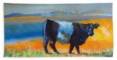 Belted Galloway Cow Beach Sheet