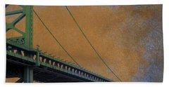 Ben Franklin Bridge Philadelphia Pa Beach Towel