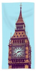 Big Ben Tower, London  Beach Sheet by Asar Studios