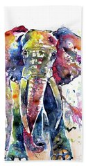 Big Colorful Elephant Beach Towel