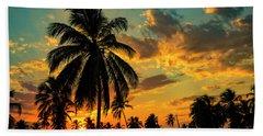 Blazing Sunset Beach Towel