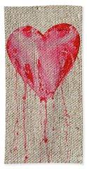Bleeding Heart Beach Towel