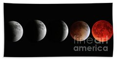 Blood Moon Eclipse Beach Towel