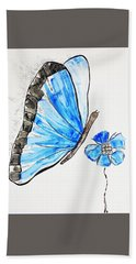 Blue Butterfly Beach Sheet
