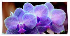 Blue Orchids Beach Towel