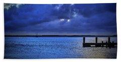 Blue Sunset Beach Towel