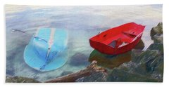 2 Boats  Beach Towel