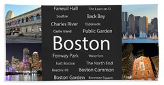 Boston Ma Collage Beach Towel