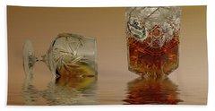 Brandy Decanter Glass Beach Towel by David French