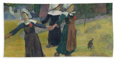 Breton Girls Dancing Beach Towel