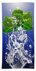 Broccoli Splash Beach Towel