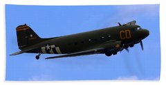 C-47 Gooney Bird At Salinas Beach Towel