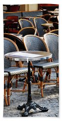 Cafe Terrace In Paris Beach Sheet