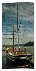 Cape Foulweather Tall Ship Beach Sheet by Thom Zehrfeld