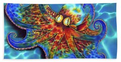 Caribbean Octopus Beach Towel