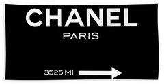 Chanel Paris Beach Towel