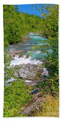 Beach Sheet featuring the photograph Cheakamus River by Sharon Talson