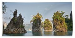 Cheow Lan Lake, Gui-lin Of Thailand Beach Towel