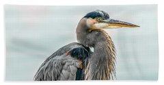 Chesapeake Bay Great Blue Heron Beach Towel