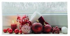 Christmas Windowsill Beach Towel