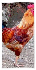 Cock A Doodle Doo Beach Towel by Charles Shoup