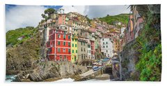 Colors Of Cinque Terre Beach Sheet by JR Photography