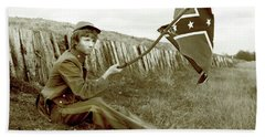 Beach Sheet featuring the photograph Confederate Soldier by KG Thienemann