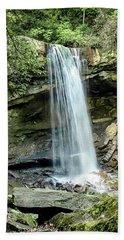 Cucumber Falls Pennsylvania Beach Towel by Chris Smith