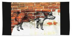 Danish Duroc Boar Beach Towel by Larry Campbell