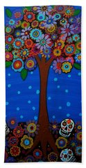 Beach Towel featuring the painting Day Of The Dead by Pristine Cartera Turkus