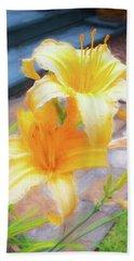 Daylily Hemerocallis Stella De Oro  Beach Towel