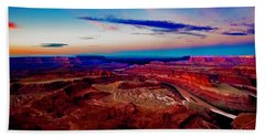 Beach Towel featuring the photograph Dead Horse Point by Norman Hall
