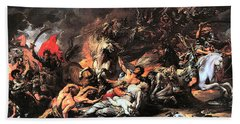 Death On A Pale Horse Beach Towel