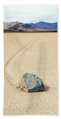 Beach Towel featuring the photograph Death Valley Racetrack by Breck Bartholomew