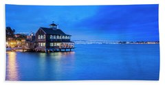 Beach Towel featuring the photograph Dinner On The Bay by Dan McGeorge