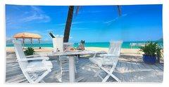 Dinner On The Beach Beach Towel