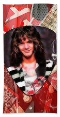 Eddie Van Halen Art Beach Towel by Marvin Blaine