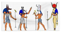 Egyptian Gods And Goddess Beach Sheet