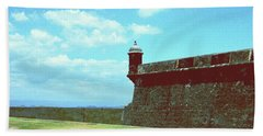 Beach Towel featuring the photograph El Morro by Gary Wonning