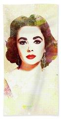 Elizabeth Taylor, Vintage Actress Beach Towel
