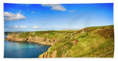 End Of The World - Cornwall Beach Towel by Chris Smith