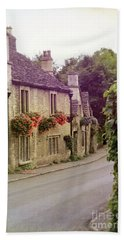English Village Beach Towel by Jill Battaglia