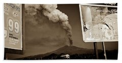 Etna, The Volcano Beach Towel