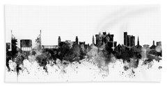 Beach Sheet featuring the digital art Fayetteville Arkansas Skyline by Michael Tompsett