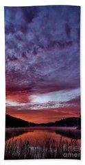 First Light On The Lake Beach Towel by Thomas R Fletcher