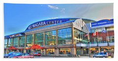 First Niagara Center Beach Towel by Michael Frank Jr