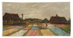 Flower Beds In Holland Beach Towel
