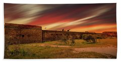 Beach Towel featuring the photograph Fort Clinch by Peter Lakomy