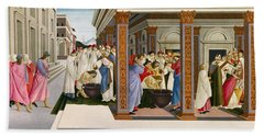 Four Scenes From The Early Life Of Saint Zenobius Beach Towel